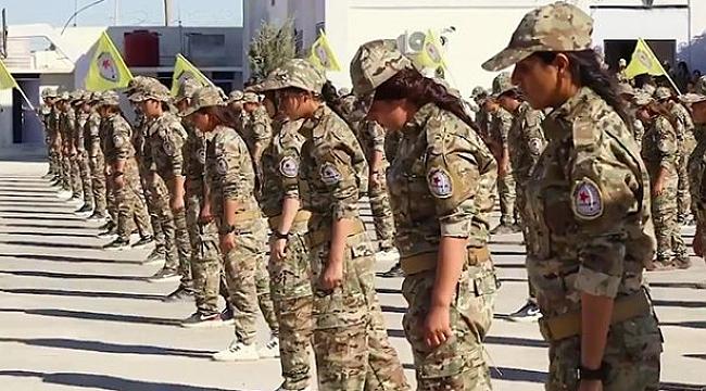 Amerika, YPG'li kadın teröristleri eğitmek için askeri akademi kurdu.