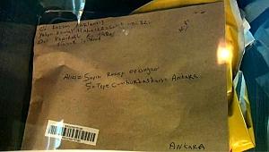 Cumhurbaşkanına yazılan mektuba siyanür incelemesi.