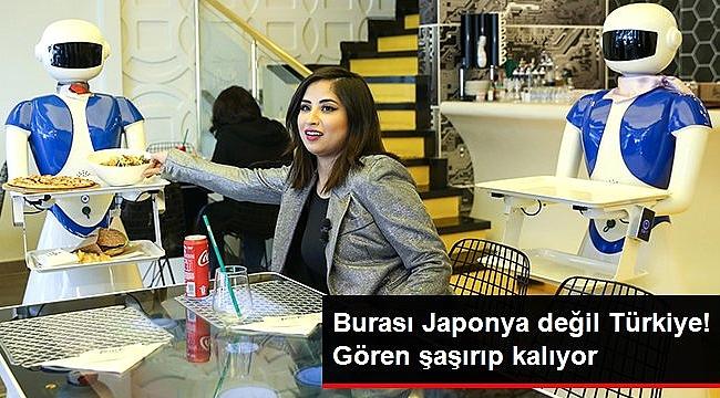 Masalar tablet, garsonlar robot! Türkiye'nin ilk teknolojik restoranı Ataköy'de açıldı.