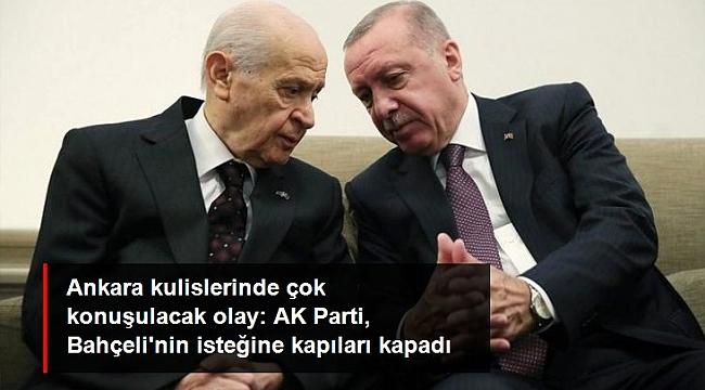"""AK Parti, Devlet Bahçeli'nin """"Vekil transferi yasaklansın"""" çağrısına kapıları kapadı."""