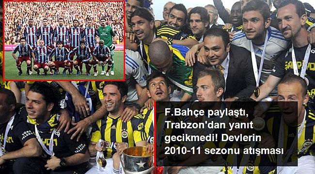 Fenerbahçe'nin 2010-11 sezonu şampiyonluğu paylaşımına Trabzonspor'dan çarpıcı yanıt geldi.