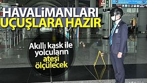 İstanbul Havalimanı'nda uçuşlar için tüm önlemler alındı.