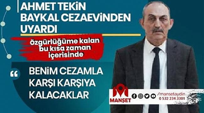 """""""BENİM CEZAMLA KARŞI KARŞIYA KALACAKLAR""""."""