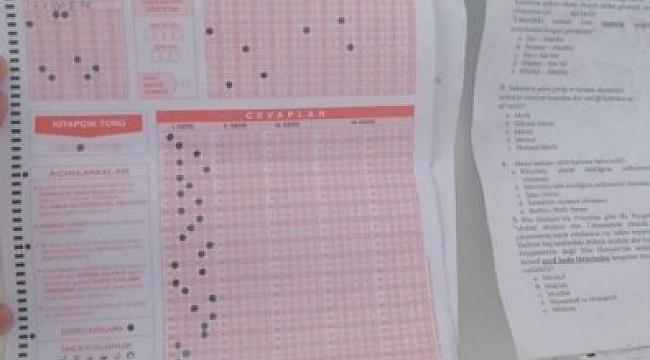 Polis YKS ihbarı sonrası harekete geçti! Malatya'da ortalığı hareketlendiren sınav kağıtları bulundu.