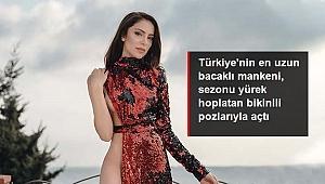 Tatil sezonunu açan Tuğçe Aral, bikinili pozlarıyla nefes kesti.