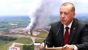 Son dakika: Erdoğan'dan Sakarya'daki patlamaya ilişkin ilk açıklama: 2 kişi öldü, 1'i ağır 74 kişi yaralandı.