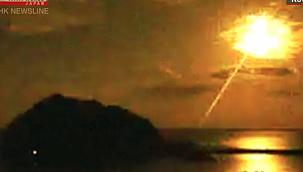 Japonya'da gökyüzü birden aydınlandı: Atmosfere giren göktaşı ateş topuna dönüştü