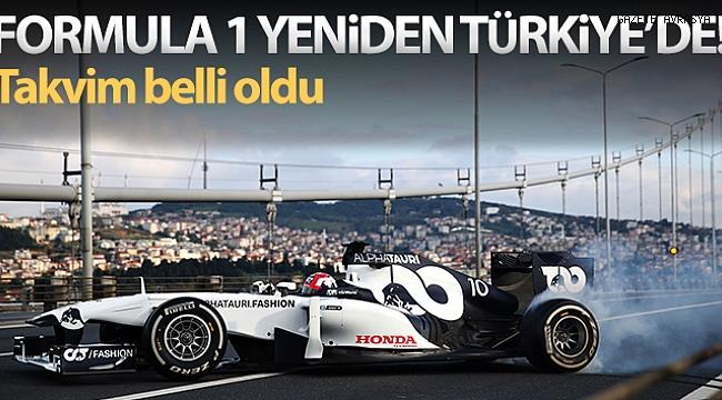 Formula 1'de Türkiye yeniden 2021 takviminde.