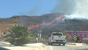 İki ilçede otluk alanda çıkan yangınlar söndürüldü.