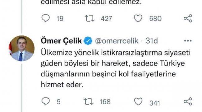 Son dakika haber | AK Parti'li Çelik: Kılıçdaroğlu'nun Cumhurbaşkanı'mızı hedef göstermesi sorumsuzluk